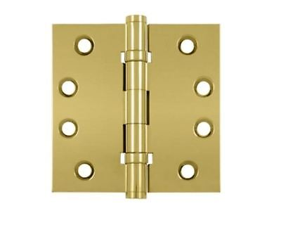"Door Hinges Square Corner 4"" x 4"" Standard  with 2 BB in 11 Finishes By FPL"