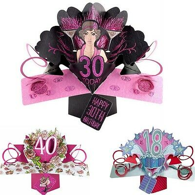 3D POP UP CARD 30th HAPPY BIRTHDAY CARD SECOND NATURE ##1