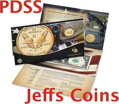 ✯ 2016 P D S S Sacagawea $1 Coin & Currency Set Native American Code Talker 16RA