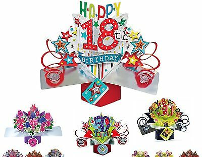 3D POP UP CARD 18th HAPPY BIRTHDAY CARD SECOND NATURE ##1