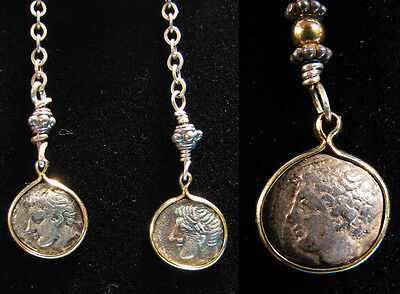 Greek Coin Necklace and Earrings - Ancient Art & Antiquities