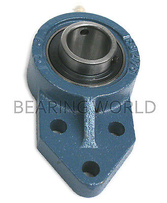 """NEW UCFB205-14  High Quality 7/8"""" Insert Bearing with 3-Bolt Bracket Flange"""