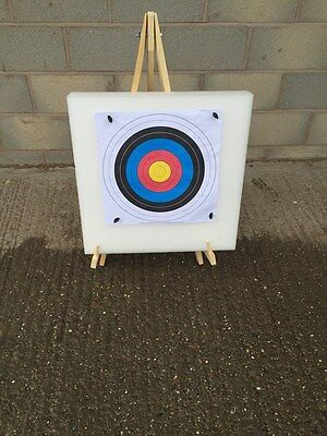 ARCHERY TARGET STAND SELF HEALING FOAM TARGET 20 PAPER FACES 4 PINS free pp