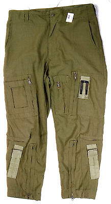 Canadian Army Pilot Flyer Helicopter Pants -7038- Nomex Fire Resistant -824Zk
