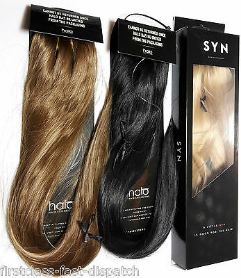 "Genuine Halo SYN 100g 18"" Full Head Hair Extensions Hidden Secret Halo Flip Wire"