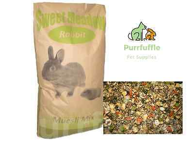 20KG SWEET MEADOW RABBIT FOOD Tasty Muesli, Pellets & Grass Mix With Vitamins