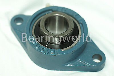 """NEW UCFT201-08  High Quality 1/2"""" Set Screw Insert Bearing with 2-Bolt Flange"""