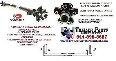 "3500 lbs Trailer axle / Dexter Axle 89/74 Idler Axle 5x5 / 6' 4"" wide trailer"
