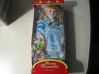 "15"" Beauty Romantic: Porcelain Doll, Brand New in the box"