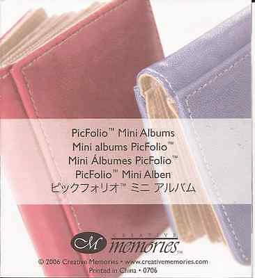 CREATIVE MEMORIES 2 x Mini Picfolio Albums Red & Blue plus storage box Scrapbook