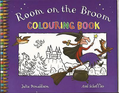 ROOM on the BROOM Colouring Book by  JULIA DONALDSON Painting Drawing Join Dots
