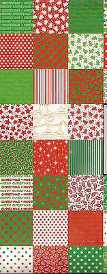30 CHRISTMAS 12 x 12 PATTERNED COLOURED SCRAPBOOKING PAPER - Mystery Pack 12x12