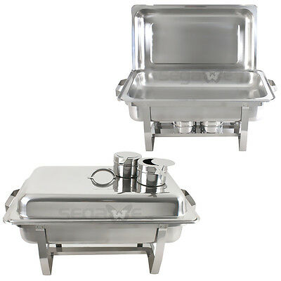 2 PACK PREMIER 8 Qt.Full Size Stainless Steel Chafer CHAFING DISH