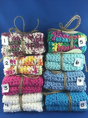 Handcrafted Crocheted Dishcloth Or Face Cloth set of two