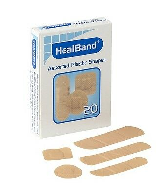 (40) Bandaids Assorted Shapes First Aid Breathable Sterile Loose Pack