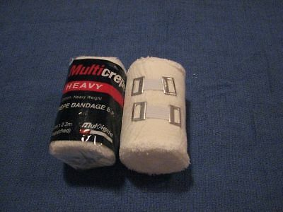 2 X (10cm x 2.3m) BANDAGE FIRST AID CREPE HEAVY DUTY 4.5M STRETCHED