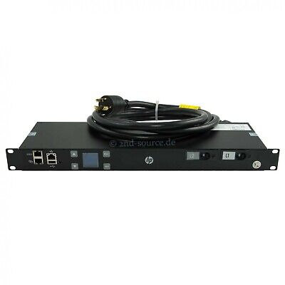 HP 4.9kVA 24A 200-240V 12x C13 NA/JP Single Phase IEC60320 PDU D9N44A 731096-001