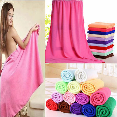 1/10pc Large Microfibre Cotton Beach Bath Towel Sport Travel Camping Lightweight