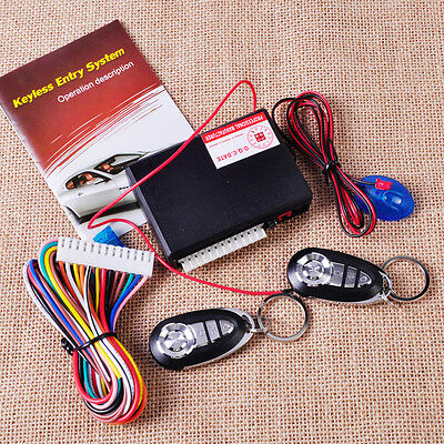 Car Vehicle Keyless Entry System Alarm Central Door Lock Control 2 Remote