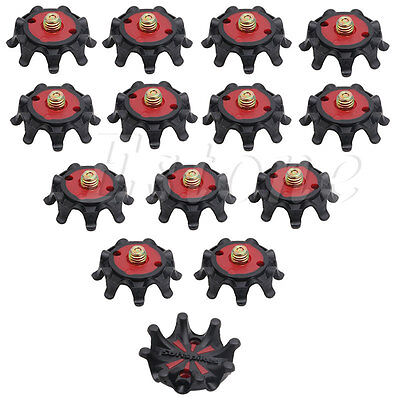 14Pcs Golf Shoe Spikes Pins 1/4 Turn Fast Twist Spikes Replacement Set New