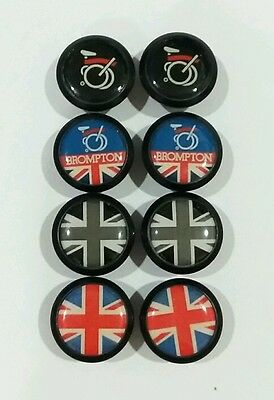 Bar end plugs assorted designs Brompton union jack