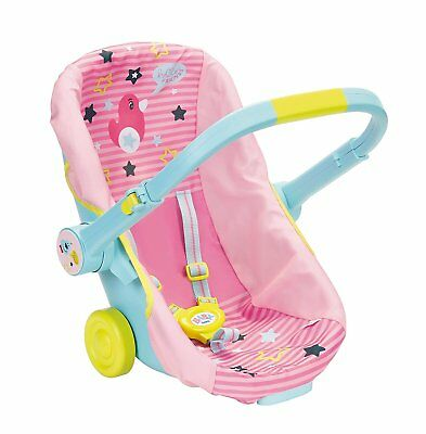 Baby Born Comfort Car Seat Travel Chair Dolls Pink & Grey Toy 3+