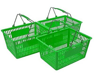 NEW Shopping Basket Set set of 3 Green