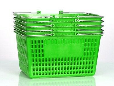 NEW Shopping Basket Set set of 5 Green