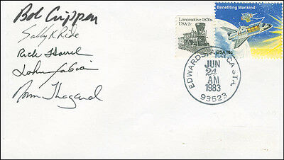 Space Shuttle Challenger - Sts - 7 Crew - Envelope Signed With Co-Signers