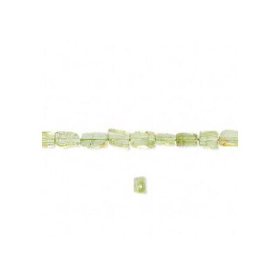 Strand of 70+ Green Peridot Approx 3-5mm Handcut Rectangle Beads FM9774