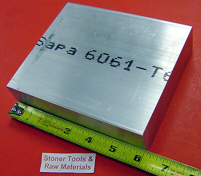 "8 Pieces 1"" X 5"" ALUMINUM 6061 FLAT BAR 6"" long Solid T6511 Plate Mill Stock"