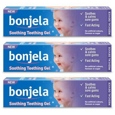 Bonjela teething Gel 15g X3 TRIPLE PACK - Sugar Free, Effective Soothing Relief