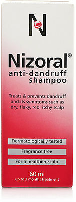 Nizoral Dandruff Shampoo For dry, flaky, itchy, red scalp - 60ml Ketoconazole 2%