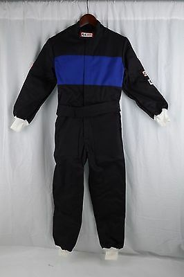 Rjs Racing Sfi 3-2A/1 New 1 Pc Suit Youth 10/12 Fire Suit Black & Blue