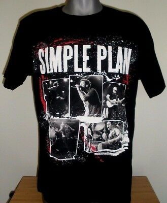 New Mens Simple Plan Band T-Shirt Get Your Heart on Tour 2011 Black Size: L