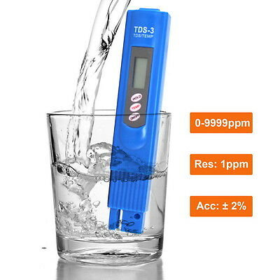 Digital TDS Meter, Water Quality Purity Tester, 0-9990 ppm Measurement
