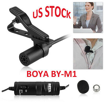 BOYA BY-M1 Omnidirectional Lavalier Microphone for Smartphone Canon Nikon Camera