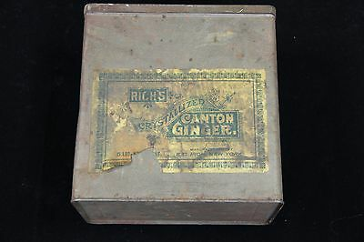 1900's Vintage Tin Rich's Crystallized Canton Ginger