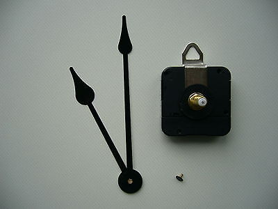 High Torque Clock Movement  Extra Long Spindle 140Mm Black French Spade Hands