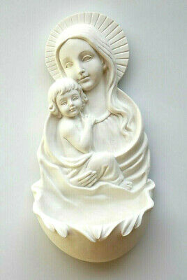 """Madonna and Child Holy Water Font 6-5/8"""" x 3-1/4"""""""