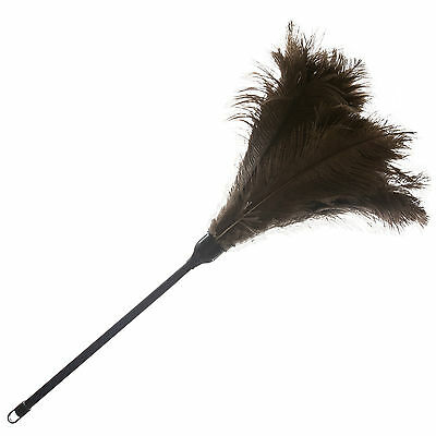 One ( 1) Professional Black Ostrich Feather Duster 700Mm- 28 Inch First Grade