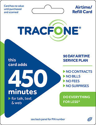 TracFone 450 Minute Plan - 90 Days/450 Minutes/450 Text/450MB Data