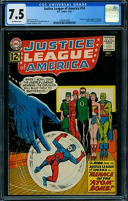 Justice League Of America 14 Cgc 7.5 - Ow Pages