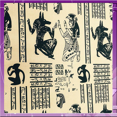 100% Polyester Egyptian Inspired Print 58 Inches Wide Fabric Black