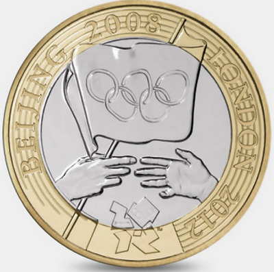 2008 £2 OLYMPIC GAMES HANDOVER BEIJING TWO POUND COIN HUNT 16/32 RARE 2 zz