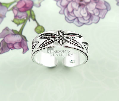 925 Sterling Silver dragonfly Toe Ring