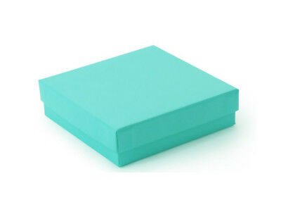 """US Seller~12 pcs 3 1/2""""x3 1/2""""x1"""" Teal Green Cotton Filled Jewelry Gift Boxes"""