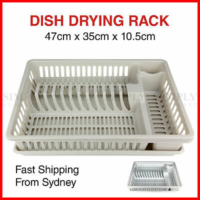 Plastic Dish Rack Plate Drying Cutlery Holder Drainer Dishrack Tray Dryer Racks