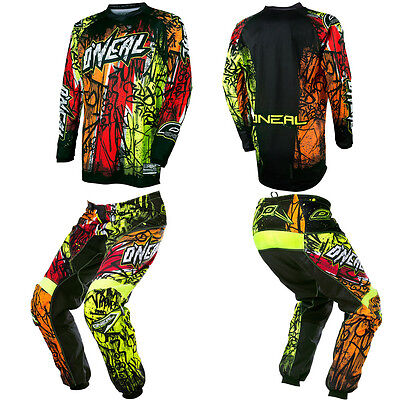 O'Neal Element Vandal Kids/Youth Motocross MX Dirtbike Gear Jersey Pants Combo