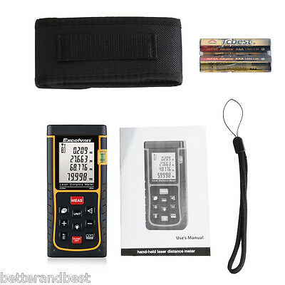 Portable Digital 80m Laser Distance Meter Measure Tool Range Finder Diastimeter